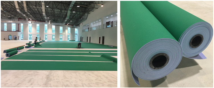 Green Color Pvc Floor