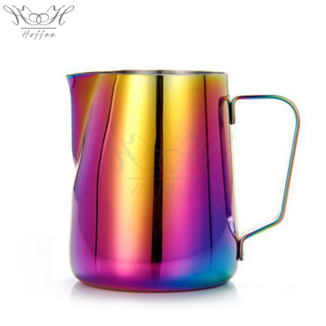 Stainless Steel Rainbow Color Latte Milk Jug