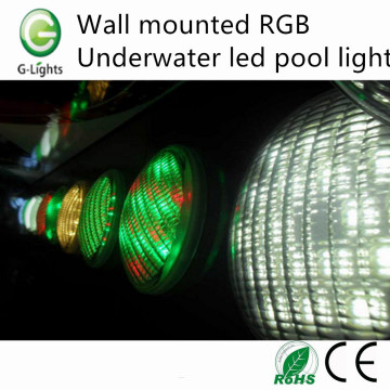 Wall mounted RGB underwater led pool light