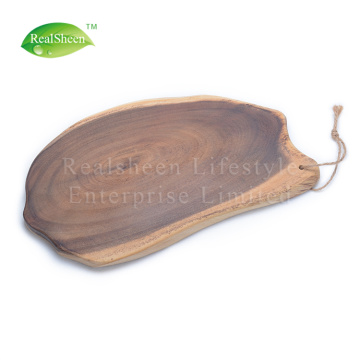 Raw Acacia Wood Cutting Board With Rope