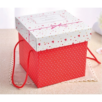 Offset Printing Custom Folding Gift Box with Ribbon