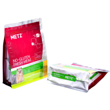 Bag Flat Bottom Pouches Dog Food Plastic Packaging