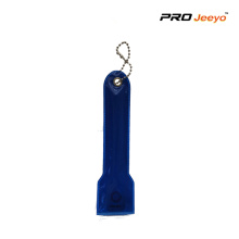 Safety Warning Navy Blue LED Flashing Keyring