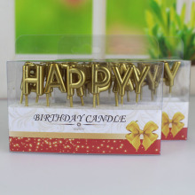 Best Quality for Customized Letter Candles Good quality gold and sliver letter birthday candle supply to France Exporter