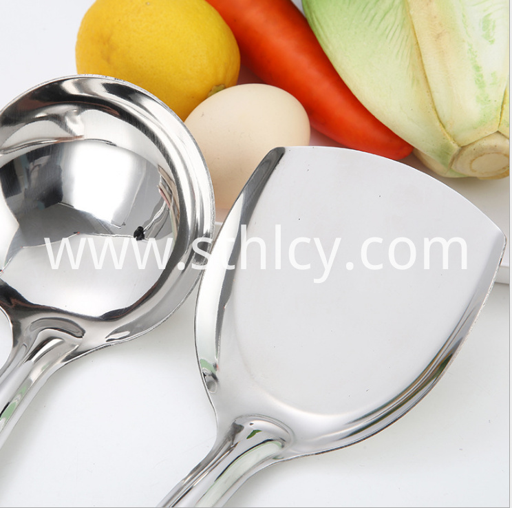 Stainless Steel Kitchen Utensils Spatula Spoon3