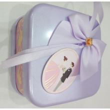 Purple sweet Wedding Tin Can