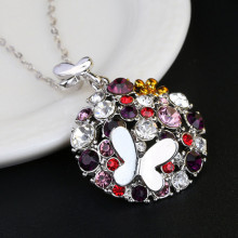 Customized for JingLing Fashionable Collar Necklaces Women Jewelry Rhinestone And Alloy Materials Pretty Lady Necklaces Personalized Design 2018 New arrival silver ball pendant with flower necklace supply to Gambia Factory
