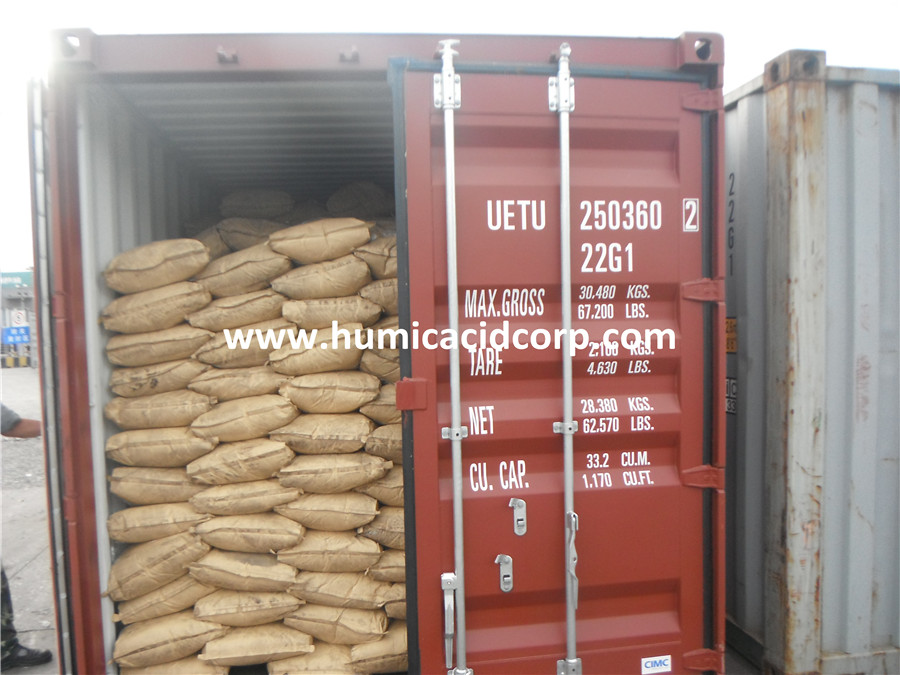 potassium humate in 25kg kraft paper bag