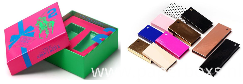 Eye shadow paper boxes, Moisturizer and faciial water boxes