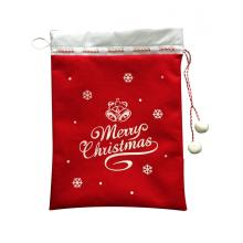 Best Quality for Personalised Christmas Sack Traditional christmas gift bag with snowman and santa supply to Spain Manufacturers