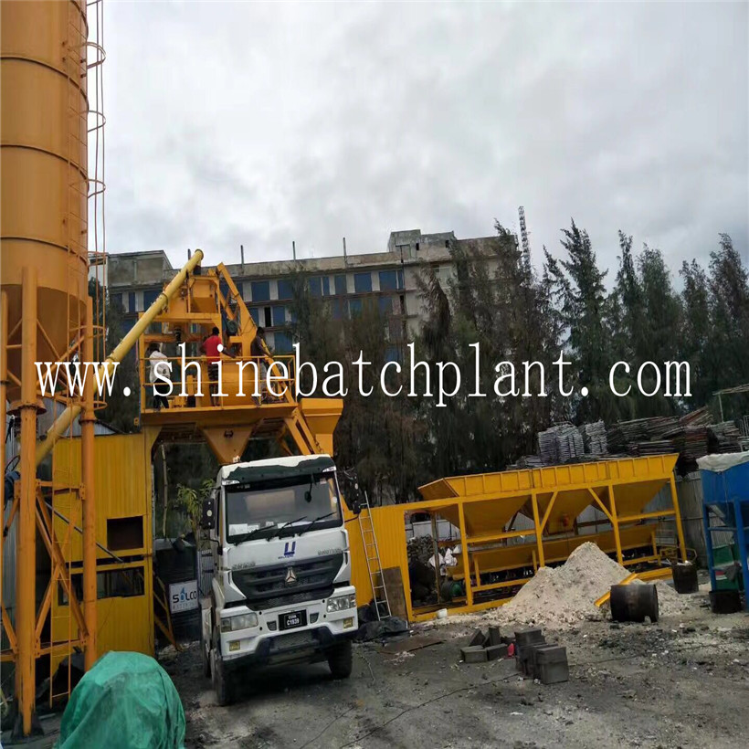 25 No Foundation Concrete Batching Machine