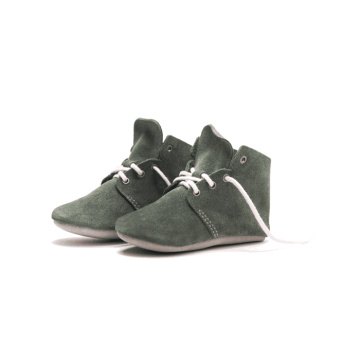 Soft Leather High Top Baby Shoes