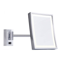 Single arm 3x magnifying wall mirror