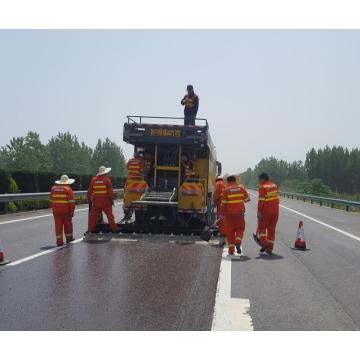 road sealer adhesive fiber slurry paver strengthened