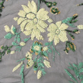 Special Multicolor Sequins Embroidery Fabric For Garment