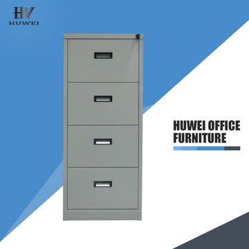 Vertical steel four drawers office archive cabinet