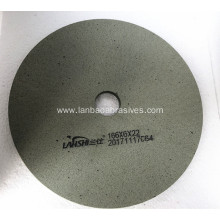 Green BD engraving polishing wheel on CNC machine