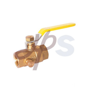 Hot forging brass ball valves with drain