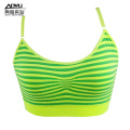 Women Seamless Tank Top Small Fresh Stripe Singlet