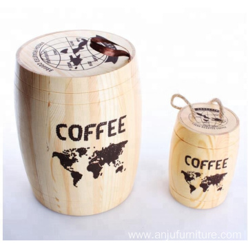 Custom cheap wood barrel mini coffee barrel wholesale