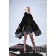 Europe style for Eco Fur Coat Australia Merino Shearling Cape Coat export to Portugal Exporter
