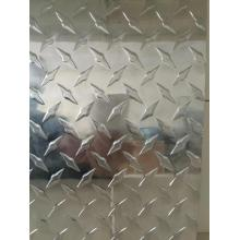 Aluminum checkered plate with small five bar