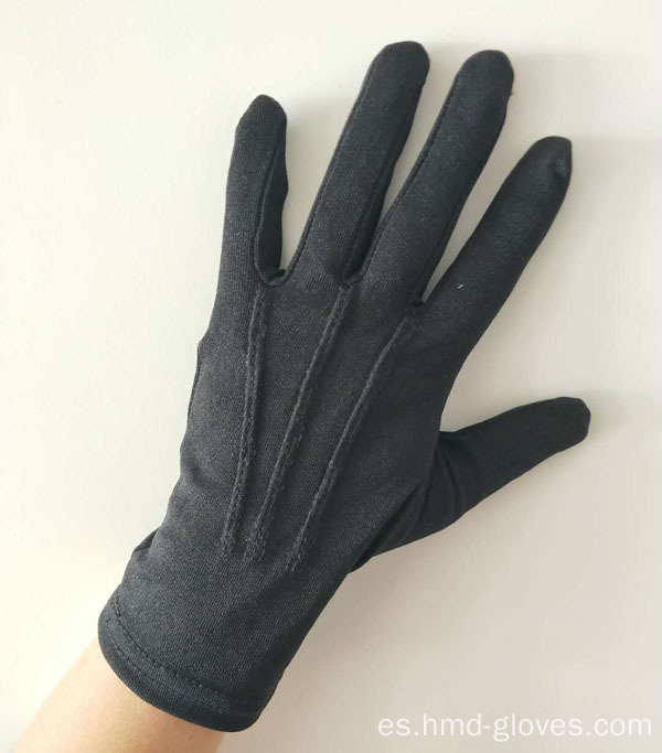 Guantes de señora Black Cotton Cotton