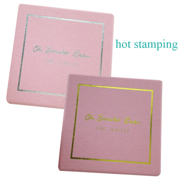 Pink Embossing Paper Customized Logo Dyed Paper Box