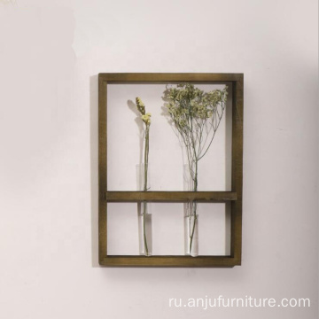 Vintage test tube Floating Wood Wall Shelf
