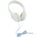 White Steel Headband Stereo Headphones Computer Headphones