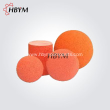 Concrete Pump Cleaning Rubber Sponge Ball and Cylinder