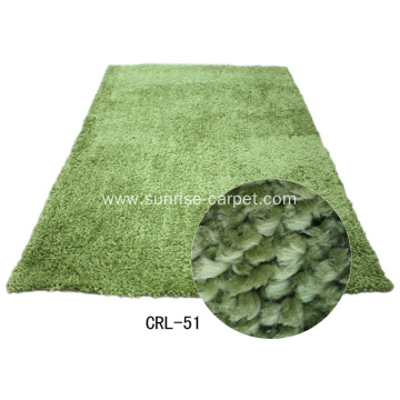 100% polyester thick yarn carpet plain color