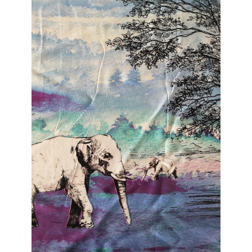 Animal Design Rayon Challis 30S Air-jet Printing Fabric