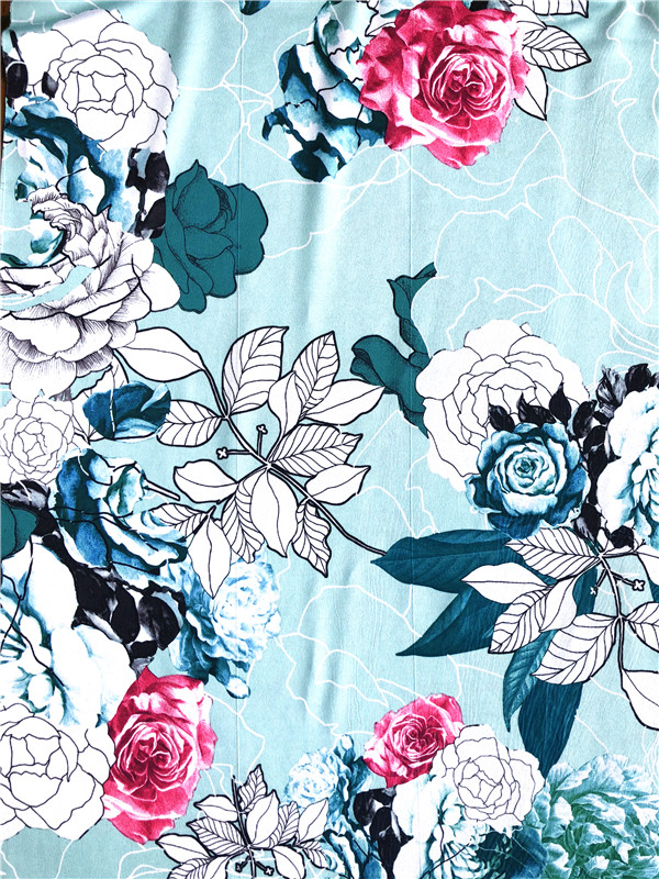 Polyester Spandex DTY Paper Print Fabric