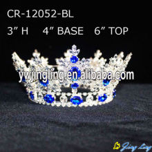 Custom Cheap Rhinestone Silver Pageant King Crowns