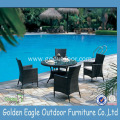 Egg Shape Chair Wicker Coffee Set in Garden
