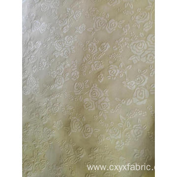 Polyester rose emboss fabric