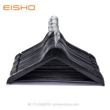 China Factories for Wooden Hotel Hangers EISHO Basic Black Wooden Men Suit Jacket Hanger supply to Portugal Exporter