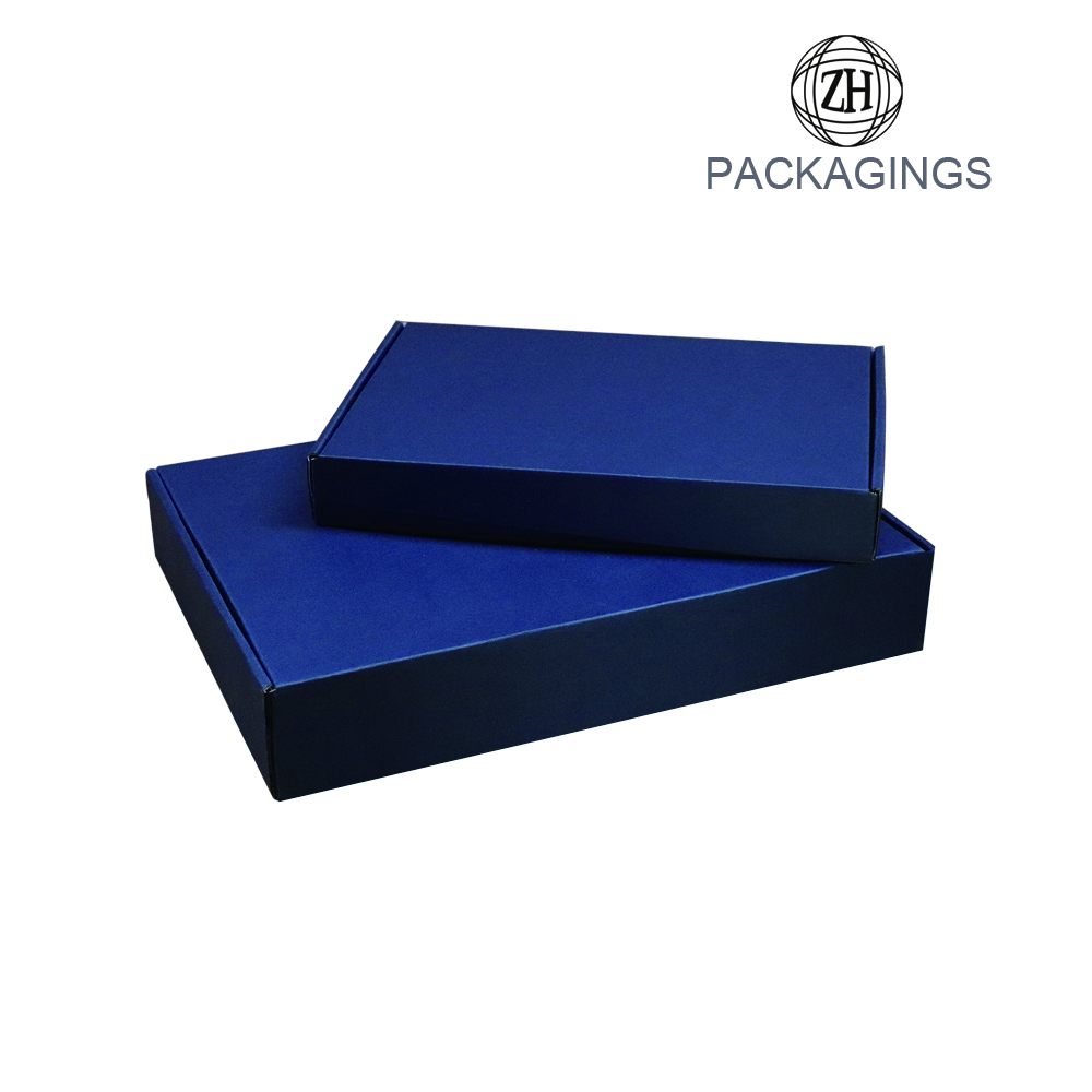 Luxury matt black book shape mailing box