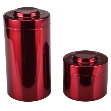 2pcs Stackable Stainless Steel Airtight Canister Set