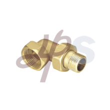 Brass 90 degree elbow with union H859B