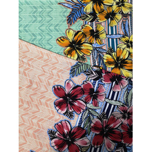 Border Flower Rayon Voile 60S Printing Woven Fabric