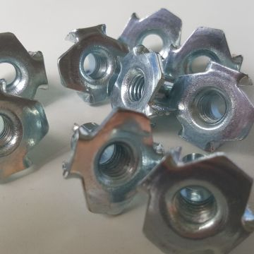 Four Pronged Stainless Steel T Nuts