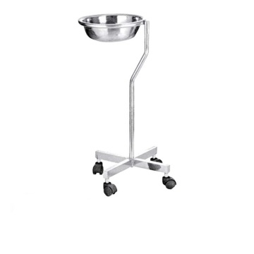Hospital Medical Stainless Mayo Table With Single Bowl