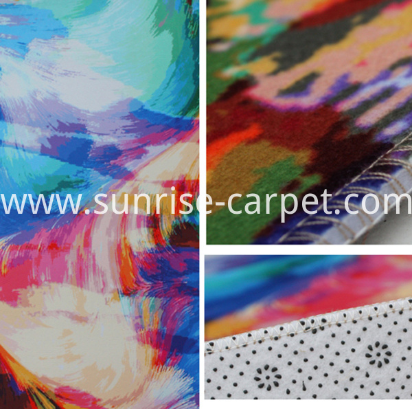 macro heat-transfer printing carpet