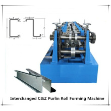 Automatic quick change size CZ purline roll forming machine