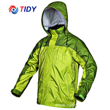 Wholesale Outdoor Polyester Plastic Rain Jacket