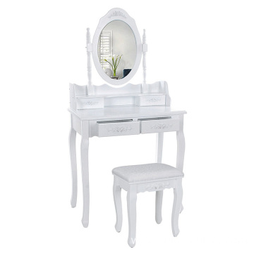 modern white wooden dressing table designs
