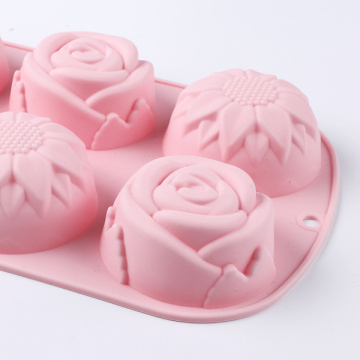 Pink Flower Silicone Cake Mold