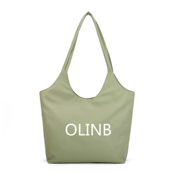 Custom Logo Polyester Casual Tote Bag For Shopping